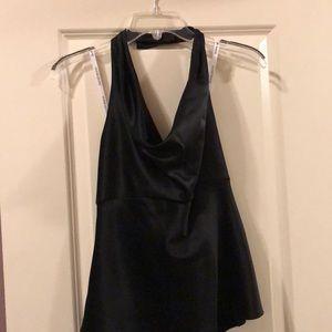 David's Bridal black halter top